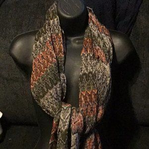 """Knit scarf bown multicolor  30"""""""